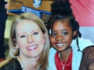 Rebecca with a G.R.O.W. participant